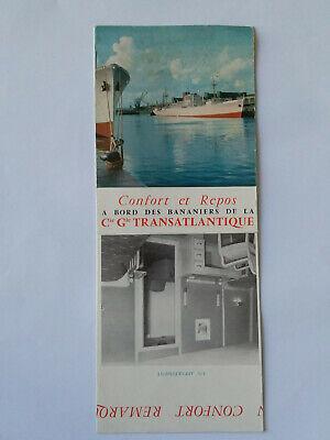 Ancienne Publicite Bananiers Transatlantique Fort Royal Ligne Bananiere Proporcionar Servicios Para La Gente; Haciendo La Vida MáS FáCil Para La PoblacióN