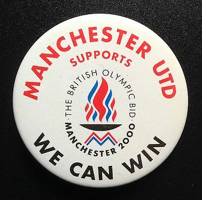 Manchester 2000 Olympic Games Bid Badge Supported By Man United Ebay