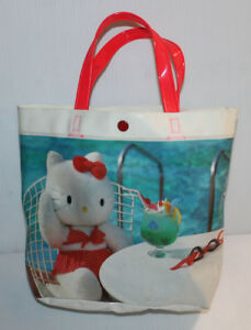 7621f7bba5 Image is loading ORIGINAL-Sanrio-Hello-Kitty-Plastic-Hand-Bag-Carrying-