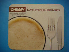 Beer Coaster: Brasserie de l'Abbaye de Scourmont (Trappistes) Chimay Bier ~ Meal