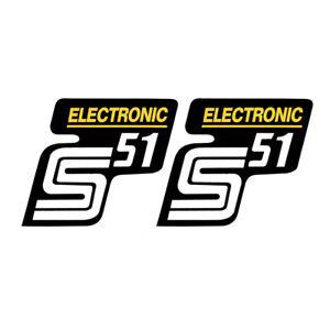 2x Aufkleber Für Simson S51 Electronic Silber Weiß 1
