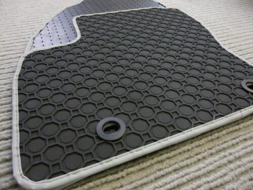 Lengenfelder Gummimatten für Citroen C4 Cactus RAND SILBER Fußmatten Gummi