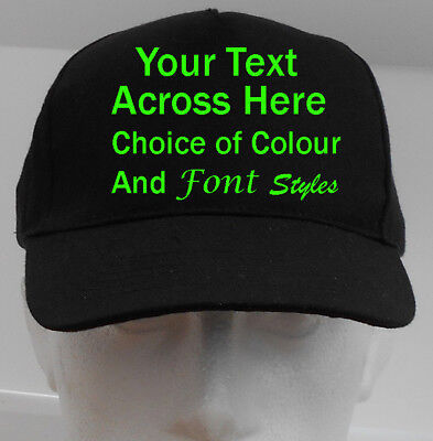 Verantwortlich New Personalised Custom Printed Text Baseball Cap Work Wear Stag Or Hen Party