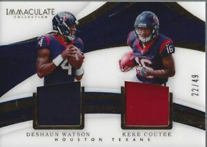 ab199ef5 Details about 2018 Immaculate Dual Jerseys #23 Keke Coutee Deshaun Watson  Jersey /49 - NM-MT