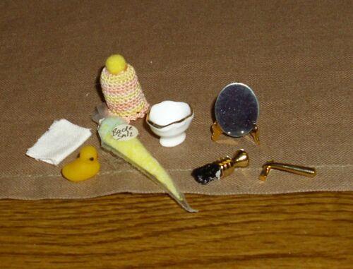 Puppenhaus/stube Miniatur 1:12 Rasierzubehör Spielgel Badezimmer Zubehör