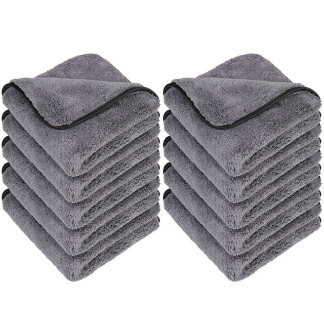 Drying Multipurpose Plush Microfiber Cleaning Cloths Towel for Household and Car Washing Detailing 600GSM,6 Pack 16 x 16inches