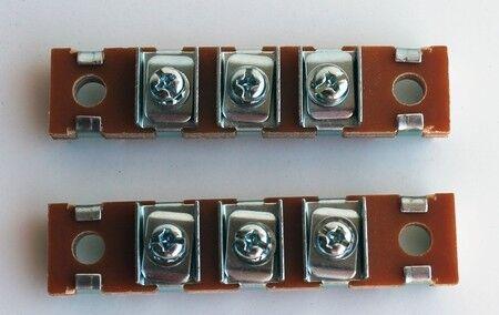 1937-1946 Chevy Truck Fender 3 Position Terminal Blocks Headlight Wiring PAIR