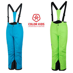 am besten authentisch Dauerhafter Service neu authentisch Details zu Color Kids Schneehose Salix Kinder Skihose Türkis oder Grün  98-140