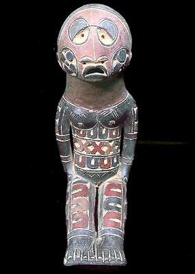 Beautiful Tribal Kuyu Terracotta Seated Figure    ----- Congo