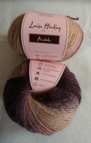 : 50 G Louisa Harding AMITOLA 103 Fb Verlauf pink//beere//beige 17,90 €//100g