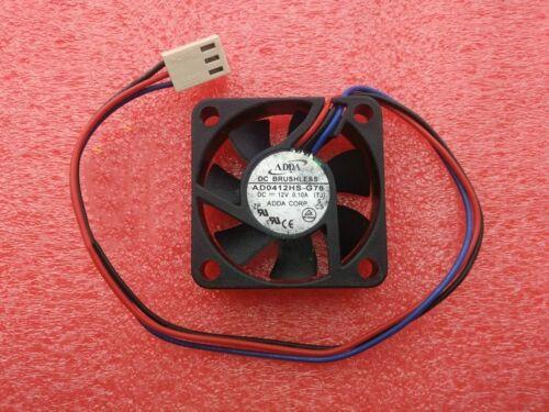 1pcs ADDA 4010 AD0412HS-G76 Fan DC12V 0.10A 4CM