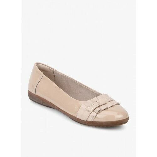 New Clarks Feya Island Nude rose Patent Chaussures-Taille UK 7D