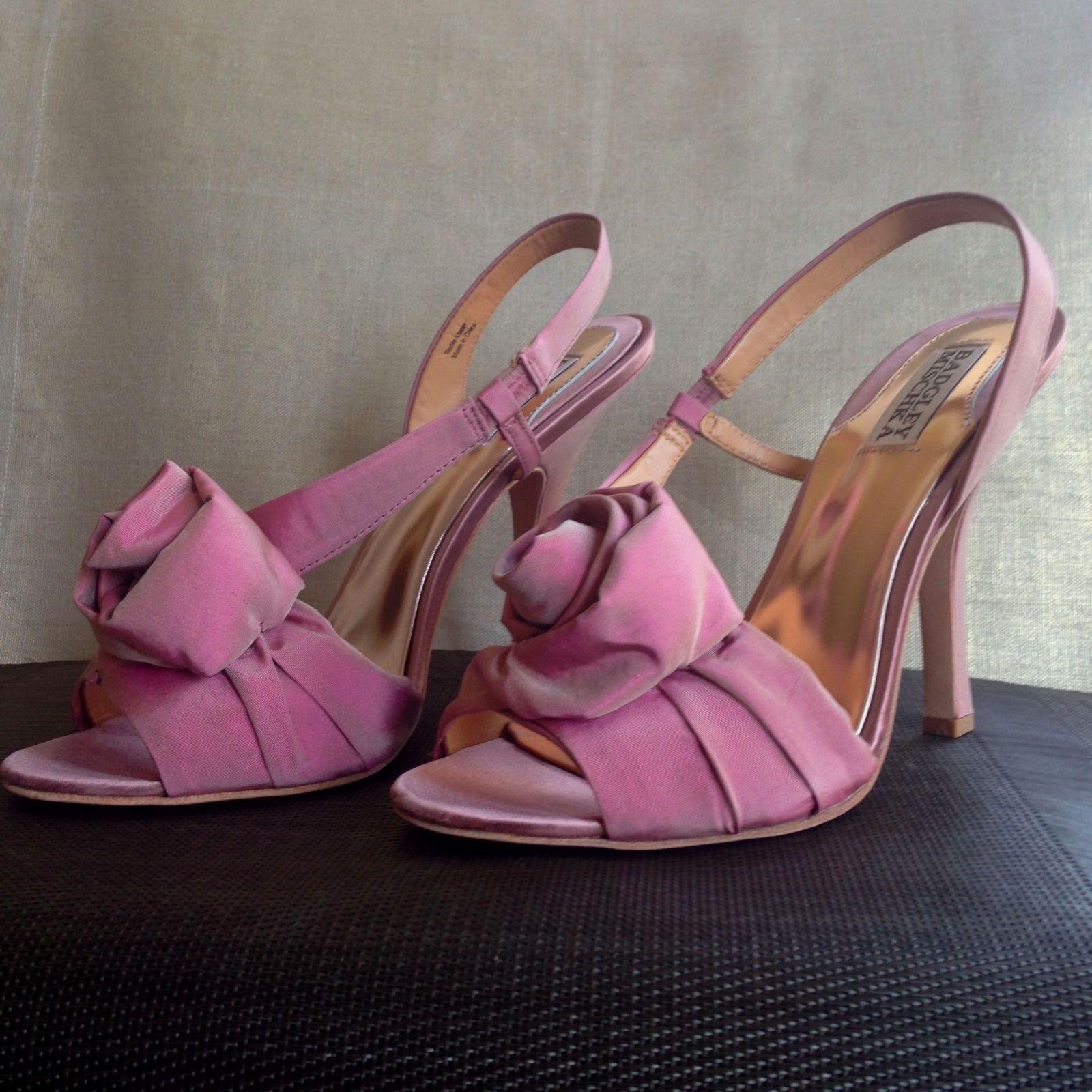 Nuevos Zapatos Badgley Mischka rosadodo rosadodo rosadodo Tacones Lanah rosado Charol 8.5 Nupcial Boda  punto de venta