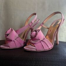 New BADGLEY MISCHKA Pink Shoes Heels Lanah Rose Slingback 8.5 Bridal Wedding