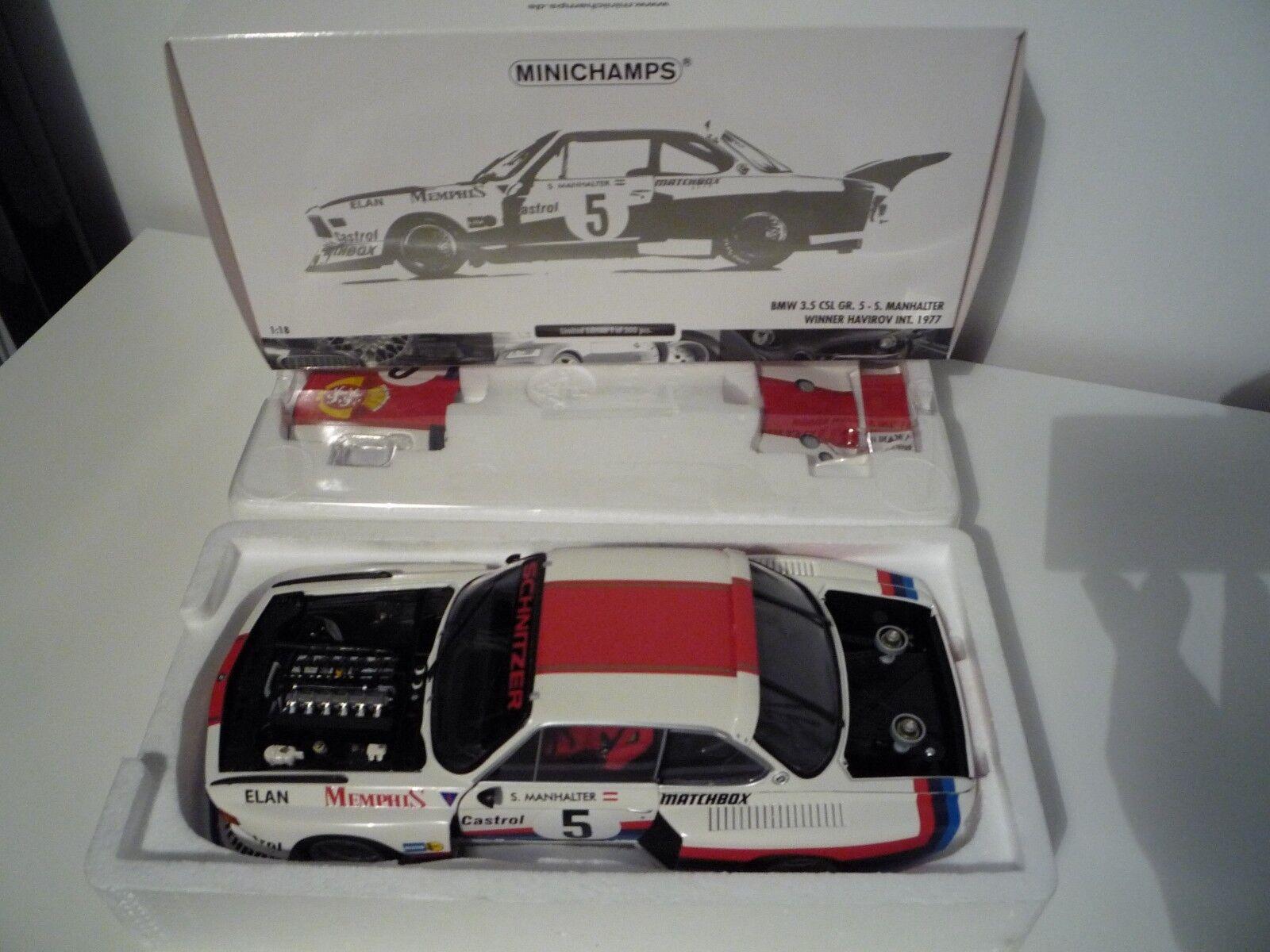 Minichamps BMW 3.5 CSL Havirov inter 1977 1:18 180772005