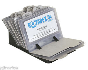 Business card filing system with 50 clear card sleeves and index image is loading business card filing system with 50 clear card reheart Image collections