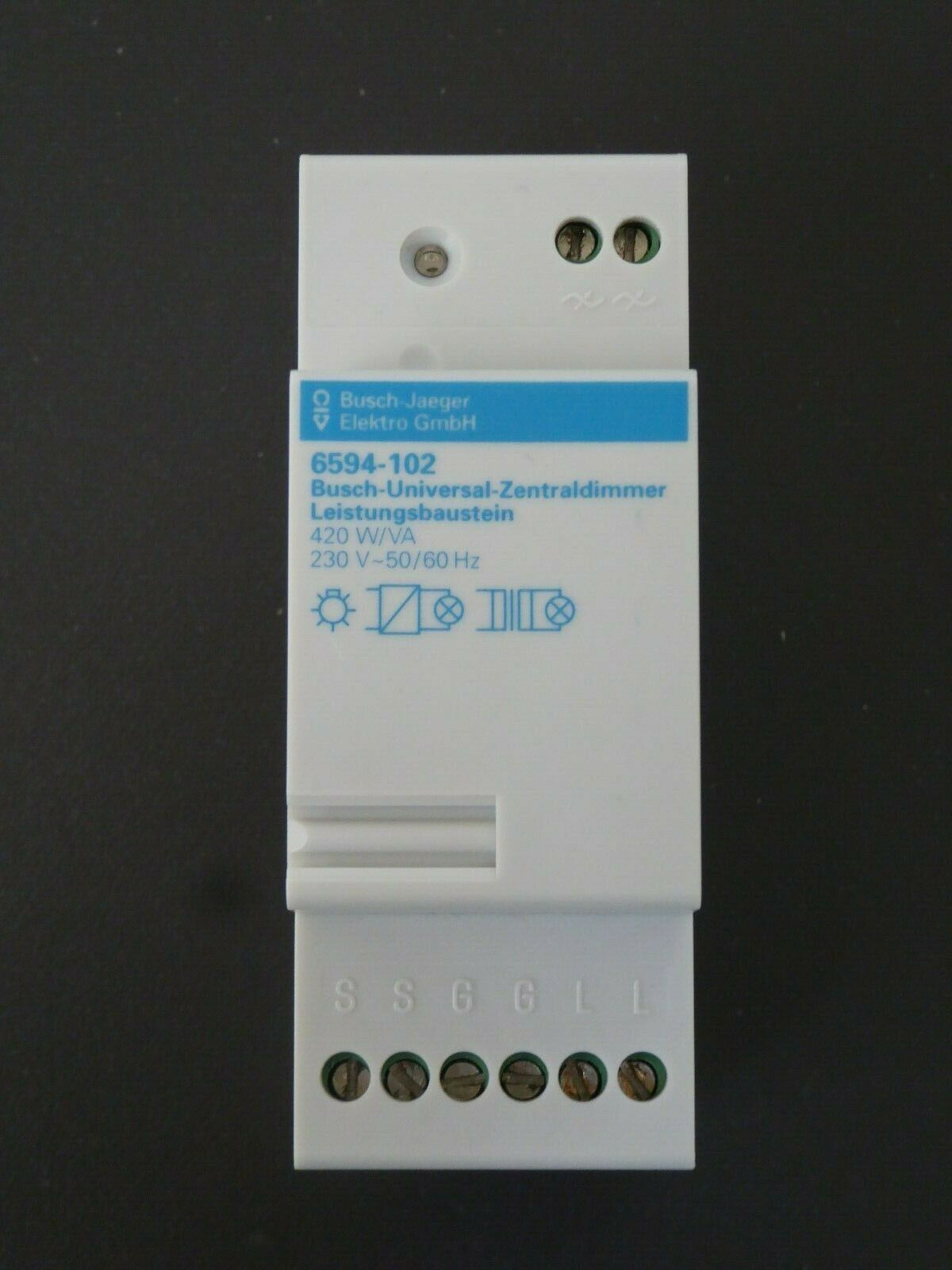 BUSCH JÄGER UNIVERSAL ZENTRALDIMMER 6594-102 LEISTUNGSBAUSTEIN