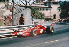 Jacky ICKX SIGNED FERRARI 312 AUTOGRAPH 12x8 Photo AFTAL COA Le Mans LEGEND