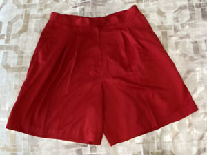Bette-amp-Court-Womens-Shorts-Red-Pleated-Pocket-14