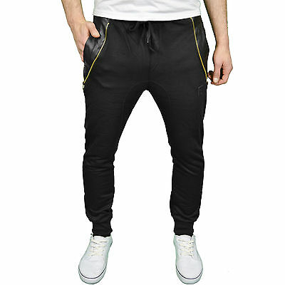 Soulstar Mens Designer Drop Crotch Tapered Fit & Skinny Cuffed Joggers, BNWT