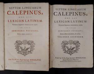 Septem-Linguarum-Calepinus-Hoc-est-Lexicon-Latinum-Editio-Octavia-1758-2-vol
