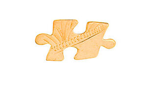 Jigsaw-Piece-Tie-Tack-Tie-Pin-Gold-Made-To-Order-in-Jewellery-Quarter-B-039-ham