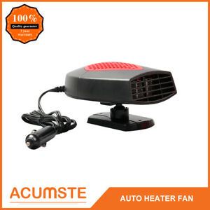 Portable Car Ceramic Heating Auto Fan Heater Defroster Demister DC 12V Red