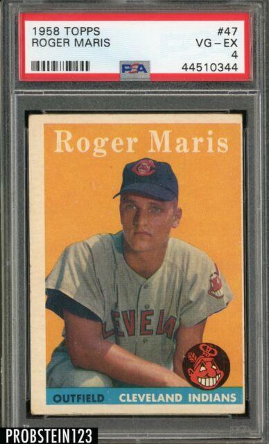 1958 Topps #47 Roger Maris Cleveland Indians RC Rookie PSA 4 VG-EX