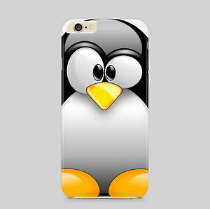 Pinguino-Carino-Animali-Custodia-Cover-Telefono