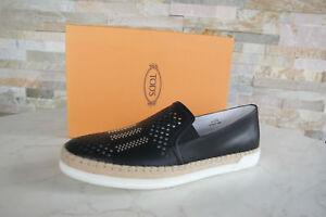 TODS-TOD-039-S-T-40-5-Slipper-Loafers-Mocassins-Slip-on-Chaussures-Noir-Nouveau-Prix-Recommande-398