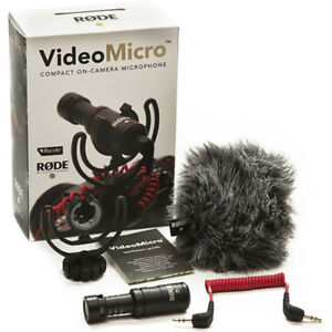 Rode-VideoMicro-Compact-On-Camera-Microphone-Brand-New