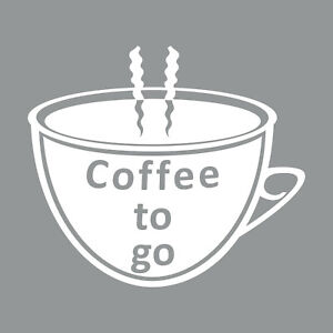 Cafe-To-Go-Tasse-25cm-Blanc-Autocollant-Tattoo-Deco-Abdeckfolie-Fenetre-en-Verre