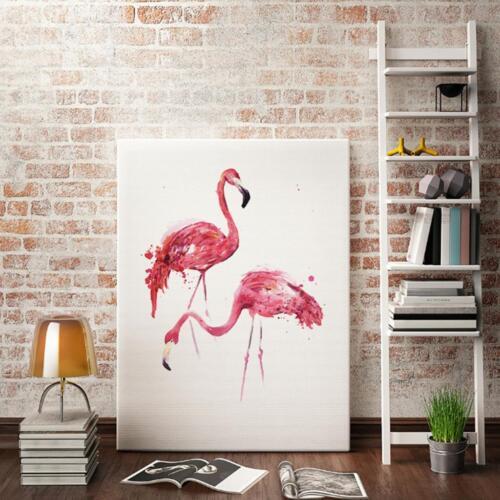 Unframed Modern Art Canvas Oil Painting Nordic Pink Flamingo Print Decor S