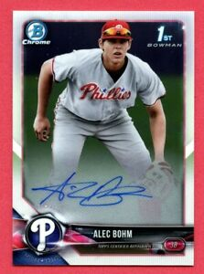 2018-Bowman-Chrome-Draft-Alec-Bohm-Autograph-Auto-Phillies-Rookie-Card-RC