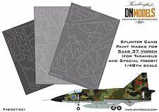 Saab 37 Viggen 1/48 Splinter Camo Paint Mask Set 1/48 for Tarangus/Special Hobb