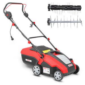Hecht-1538-Elektro-Vertikutierer-Rasenluefter-Vertikutierer-Kombi-Geraet-1500W