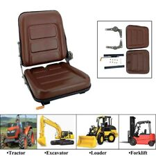 Tractor Seat Lawn Garden Slidable Black Tractor Seat Riding Mower Seat Brown