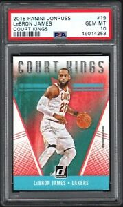 2018-19 Panini Donruss #19 LeBRON JAMES Court Kings PSA 10 GEM MINT