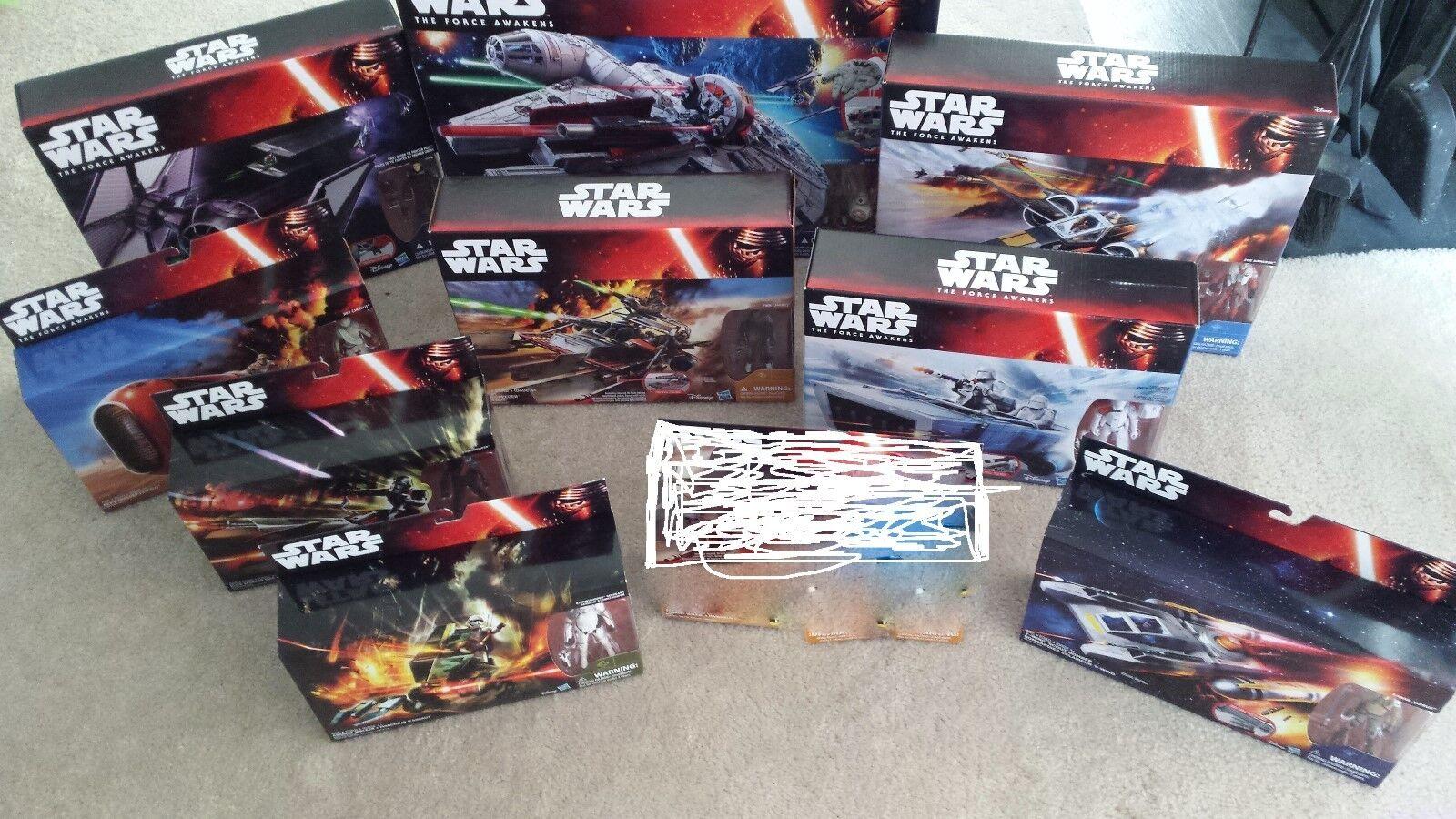 Star Wars TFA 9 Vehicle Lot 3.75  Action Figures NIB, Unopened, Hasbro