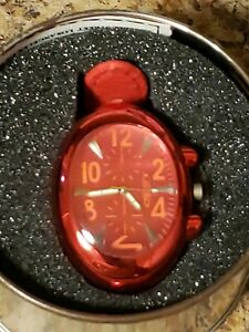 Marco-Max-Red-Watch-Red-Leather-Band-New-MEN-women-unisex
