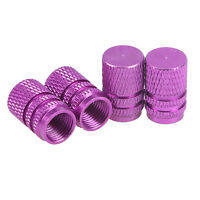4x Car Truck Motorcycle Air Tire Wheel Stem Valve Covers Caps Purple Universal