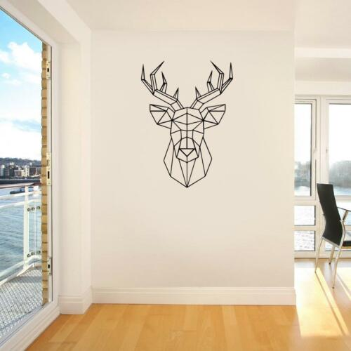 ORIGAMI DEER Animals WALL STICKER Bedroom Decal Art Stencil Silhouette ST232