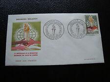 MADAGASCAR - enveloppe 1er jour 10/12/1963 (droits de l homme) (cy53)
