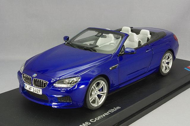 Model Car; 2012 BMW M6 Converdeible (F12) blu 1 18 scale  80432253657