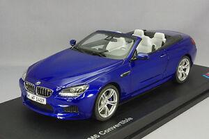 Model Car; 2012 BMW M6 Convertible (F12) Blue 1:18 scale  80432253657