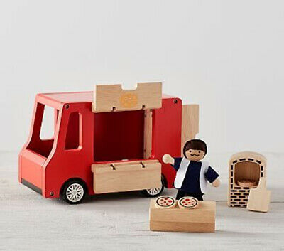 New Retired Pottery Barn Kids Red Wooden Wood Pizza Oven