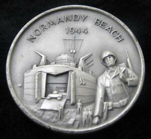Normandy Beach Amvets Silver Silver Round 1 10 Ounce