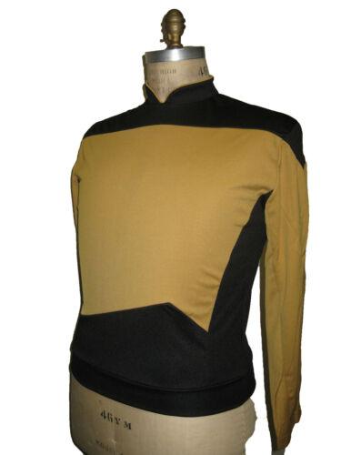 STAR TREK Next Generation Uniform Kostüm deluxe gold  M unisex offiziell lizenz