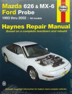 Haynes-Workshop-Manual-Mazda-626-MX-6-Ford-Probe-1993-2002-Service-amp-Repair