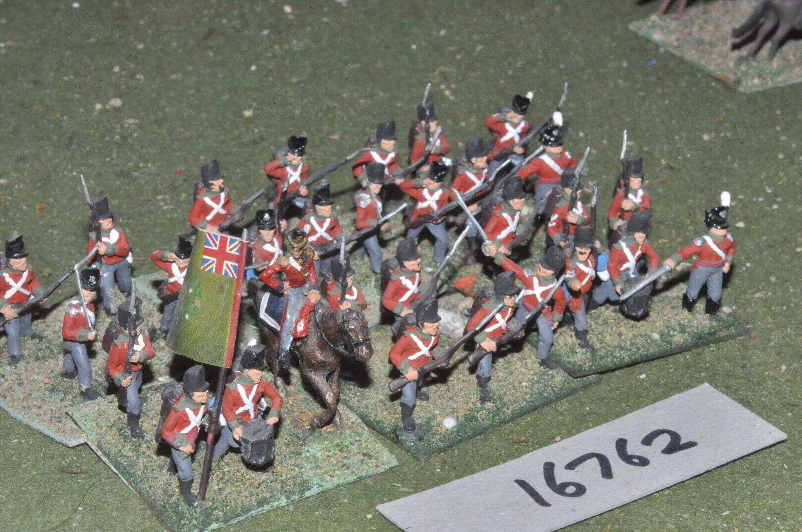 25mm napoleonic   british - infantry 30 figs - inf (16762)